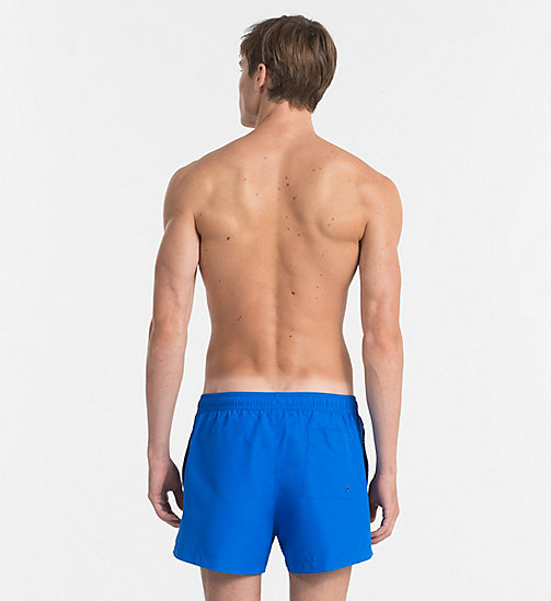CALVINKLEIN Swim Shorts - Core Logo Tape - 18-4245-ELECTRIC BLUE LEMONADE - CALVIN KLEIN SWIM SHORTS - detail image 1