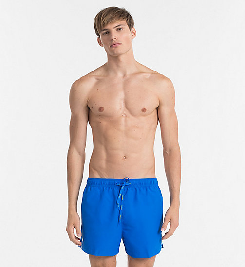 CALVINKLEIN Swim Shorts - Core Logo Tape - 18-4245-ELECTRIC BLUE LEMONADE - CALVIN KLEIN SWIMWEAR - main image