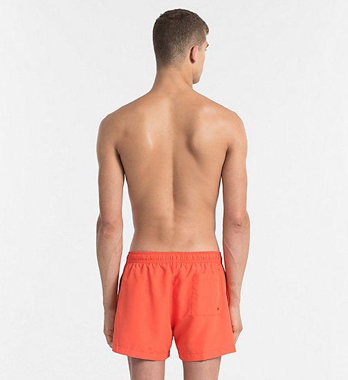 CALVINKLEIN Swim Shorts - Core Logo Tape - GRENADINE - CALVIN KLEIN NEW IN - detail image 1