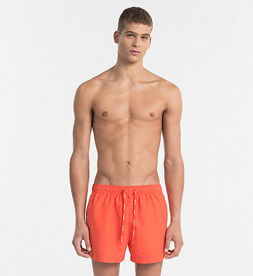 CALVINKLEIN Swim Shorts - Core Logo Tape - GRENADINE - CALVIN KLEIN SWIM SHORTS - main image