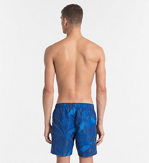 CALVINKLEIN Swim Shorts - Core Solids - STRIPEY LEAVES PROVENCE - CALVIN KLEIN SWIM SHORTS - detail image 1