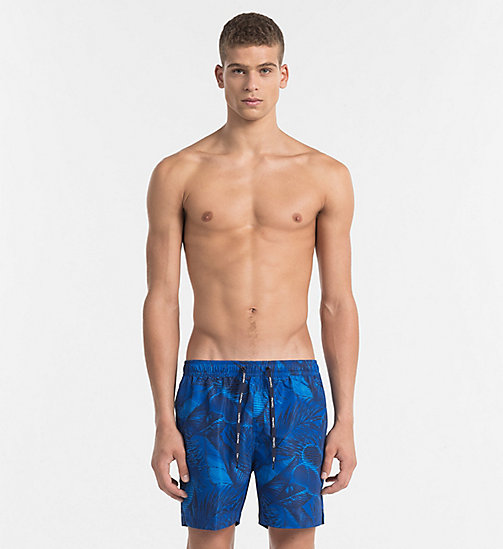 CALVINKLEIN Badeshorts - Core Solids - STRIPEY LEAVES PROVENCE - CALVIN KLEIN BADESHORTS - main image