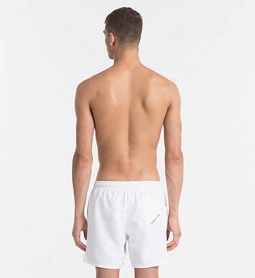 CALVINKLEIN Swim Shorts - Core Diagonal - WHITE - CALVIN KLEIN SWIM SHORTS - detail image 1