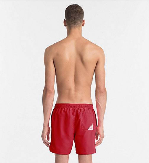 CALVINKLEIN Swim Shorts - Core Diagonal - SALSA - CALVIN KLEIN NEW IN - detail image 1