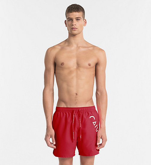 CALVINKLEIN Swim Shorts - Core Diagonal - SALSA - CALVIN KLEIN SWIM SHORTS - main image