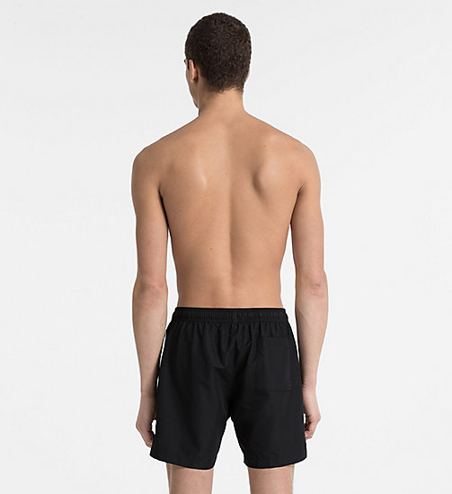 CALVINKLEIN Swim Shorts - Core Logo Tape - BLACK - CALVIN KLEIN SWIMWEAR - detail image 1