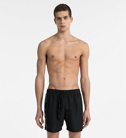 CALVINKLEIN Swim Shorts - Core Logo Tape - BLACK - CALVIN KLEIN SWIM SHORTS - main image