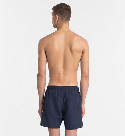 CALVINKLEIN Swim Shorts - Core Logo Tape - BLUE SHADOW - CALVIN KLEIN SWIMWEAR - detail image 1