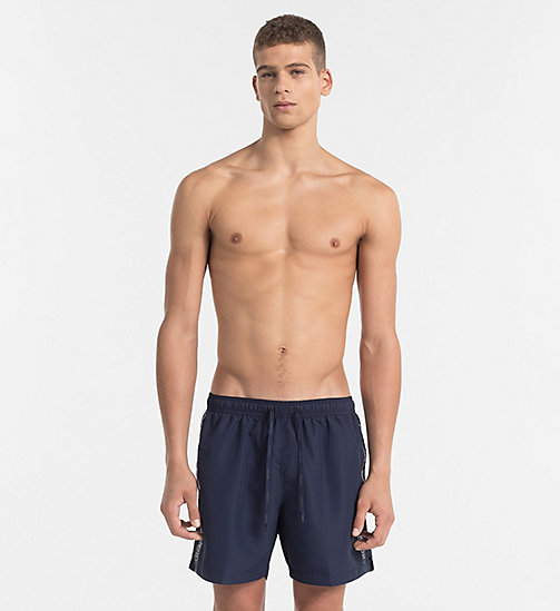 CALVINKLEIN Swim Shorts - Core Logo Tape - BLUE SHADOW - CALVIN KLEIN SWIM SHORTS - main image