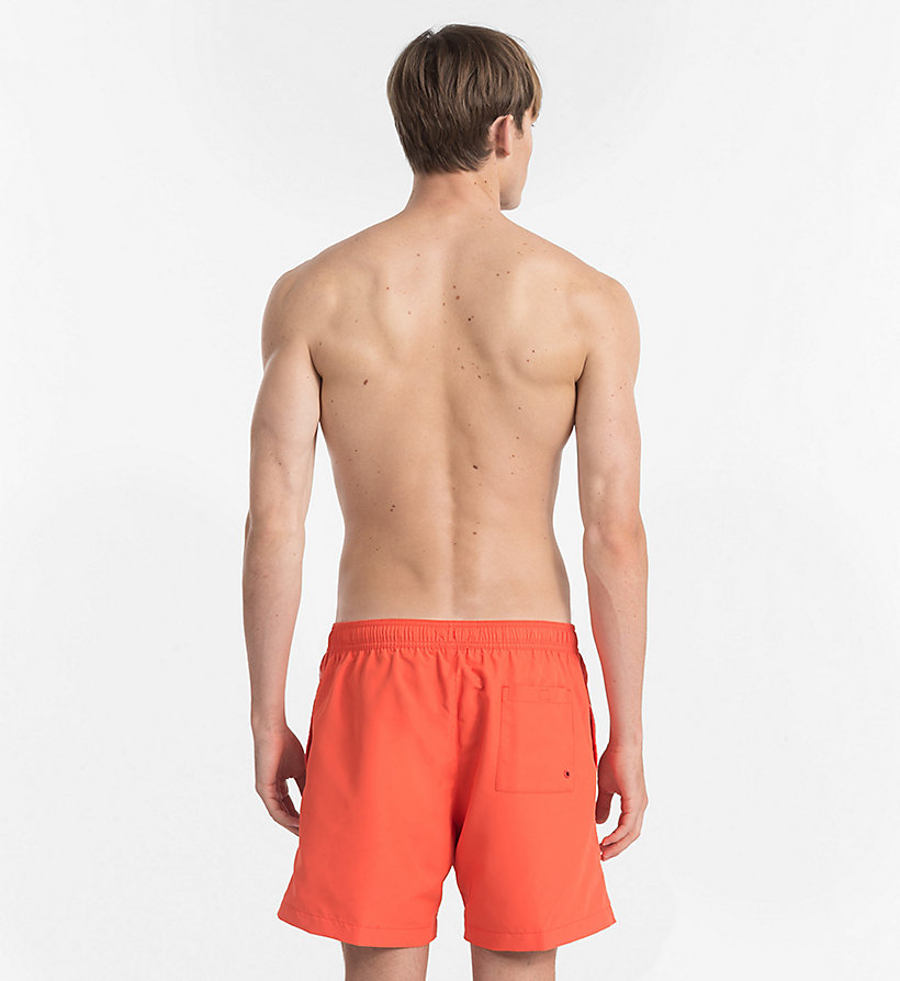 CALVINKLEIN Swim Shorts - Core Logo Tape - 15-1460-ORANGE CLOWN FISH - CALVIN KLEIN UNDERWEAR - detail image 1