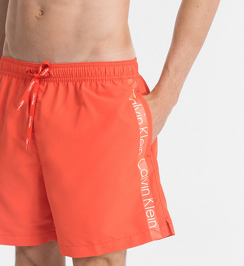CALVINKLEIN Swim Shorts - Core Logo Tape - 15-1460-ORANGE CLOWN FISH - CALVIN KLEIN UNDERWEAR - detail image 2