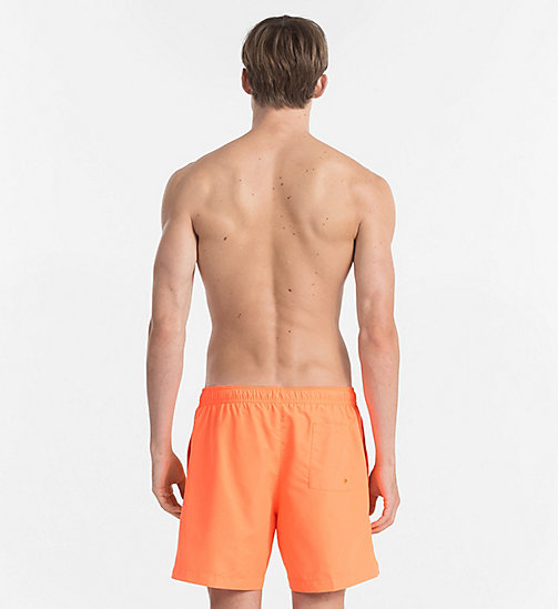 CALVINKLEIN Swim Shorts - Core Logo Tape - 15-1460-ORANGE CLOWN FISH - CALVIN KLEIN SWIM SHORTS - detail image 1