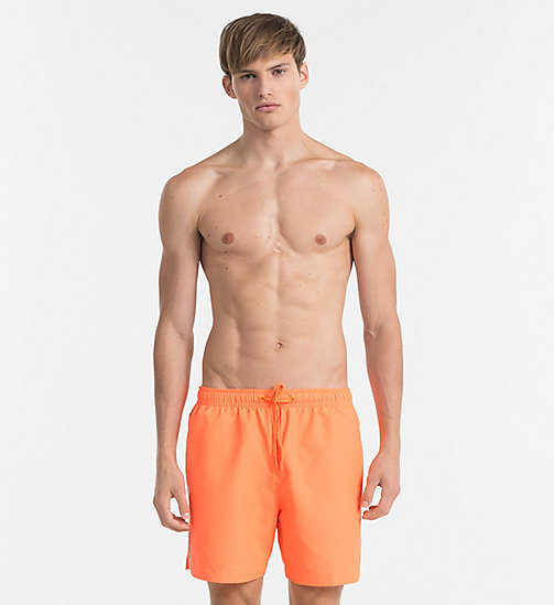 CALVINKLEIN Swim Shorts - Core Logo Tape - 15-1460-ORANGE CLOWN FISH - CALVIN KLEIN SWIM SHORTS - main image