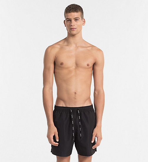 CALVIN KLEIN Swim Shorts - Core Solids - BLACK - CALVIN KLEIN SWIM SHORTS - main image