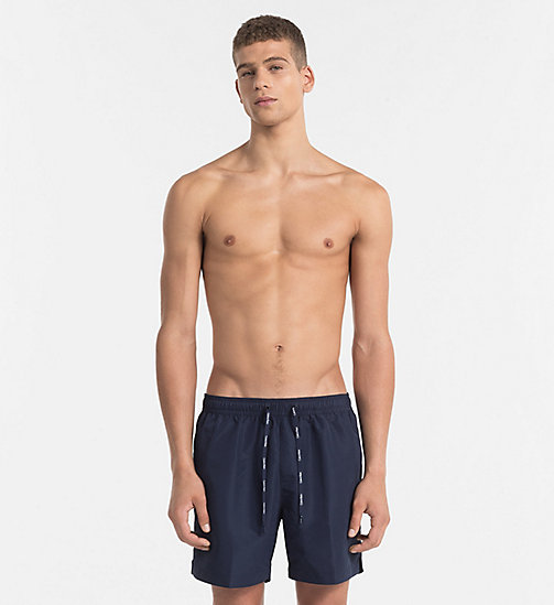 CALVIN KLEIN Swim Shorts - Core Solids - BLUE SHADOW - CALVIN KLEIN SWIM SHORTS - main image