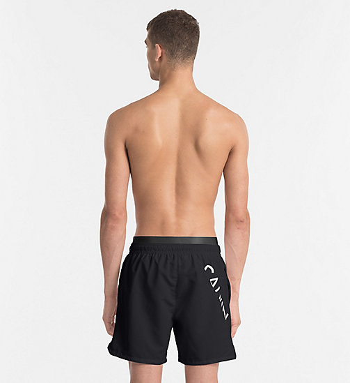 CALVINKLEIN Swim Shorts - Core Diagonal - BLACK - CALVIN KLEIN NEW IN - detail image 1