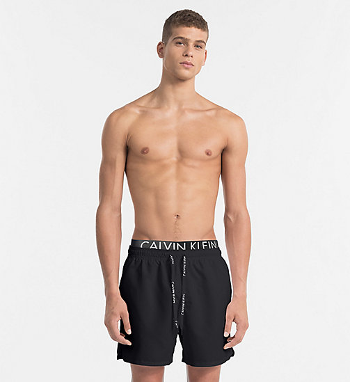 CALVINKLEIN Swim Shorts - Core Diagonal - BLACK - CALVIN KLEIN NEW IN - main image