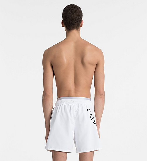 CALVINKLEIN Swim Shorts - Core Diagonal - WHITE - CALVIN KLEIN NEW IN - detail image 1
