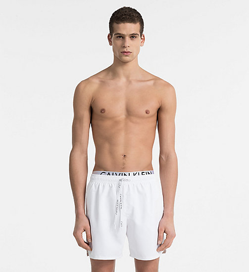 CALVINKLEIN Swim Shorts - Core Diagonal - WHITE - CALVIN KLEIN SWIMWEAR - main image