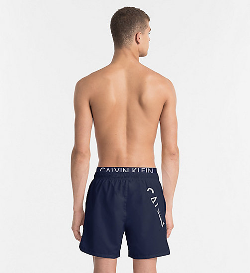 CALVINKLEIN Swim Shorts - Core Diagonal - BLUE SHADOW - CALVIN KLEIN SWIMWEAR - detail image 1