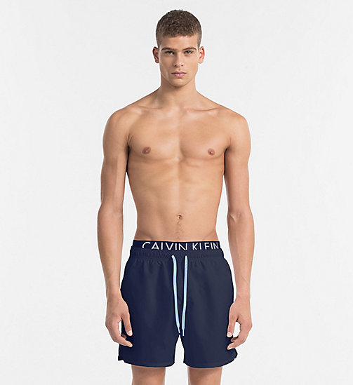 CALVINKLEIN Swim Shorts - Core Diagonal - BLUE SHADOW - CALVIN KLEIN SWIMWEAR - main image