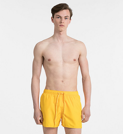 CALVINKLEIN Swim Shorts - Core Solids - GOLD FUSION - CALVIN KLEIN SWIMWEAR - main image