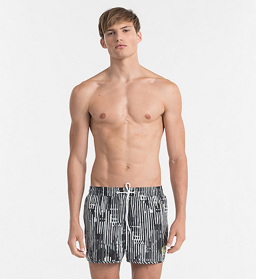 CALVINKLEIN Swim Shorts - CK NYC - CITY BLACK - CALVIN KLEIN SWIM SHORTS - main image