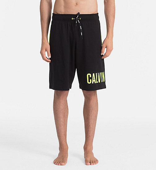 CALVINKLEIN Logo Shorts - Intense Power - BLACK - CALVIN KLEIN SWIM SHORTS - main image