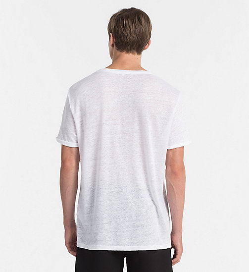 CALVINKLEIN Relaxed Linen T-shirt - Core Lifestyle - WHITE - CALVIN KLEIN NEW IN - detail image 1