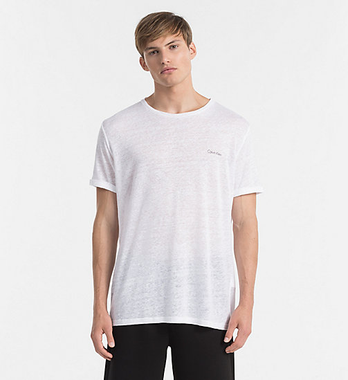 CALVINKLEIN Relaxed Linen T-shirt - Core Lifestyle - WHITE - CALVIN KLEIN NEW IN - main image