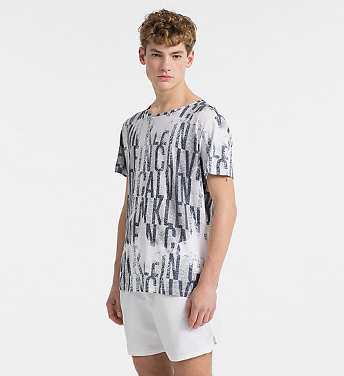 CALVINKLEIN Logo T-Shirt - Intense Power - IKAT WHITE - CALVIN KLEIN BEACHWEAR - main image