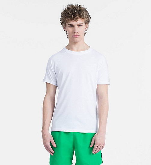 CALVINKLEIN Relaxed T-shirt - Core Logo Tape - WHITE - CALVIN KLEIN BEACHWEAR - main image