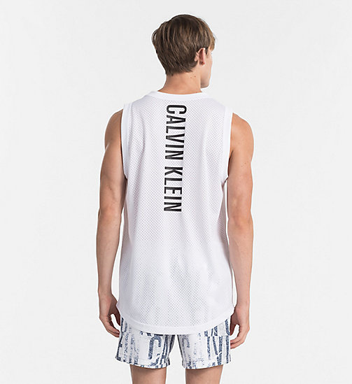 CALVINKLEIN Mesh Tank Top - Intense Power - WHITE - CALVIN KLEIN BEACHWEAR - detail image 1
