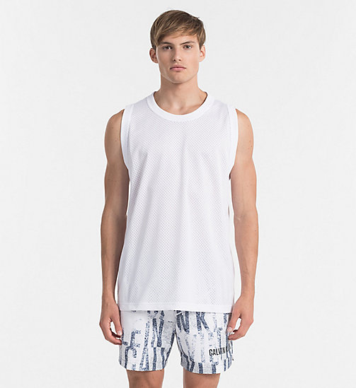 CALVINKLEIN Mesh Tank Top - Intense Power - WHITE - CALVIN KLEIN BEACHWEAR - main image