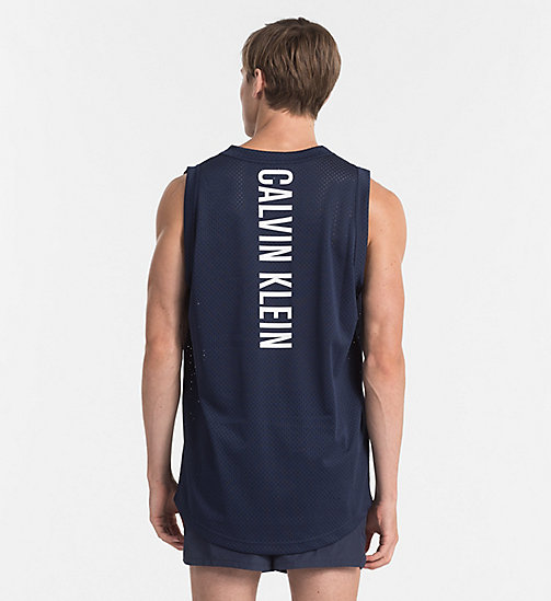 CALVINKLEIN Mesh Tank Top - Intense Power - BLUE SHADOW - CALVIN KLEIN BEACHWEAR - detail image 1