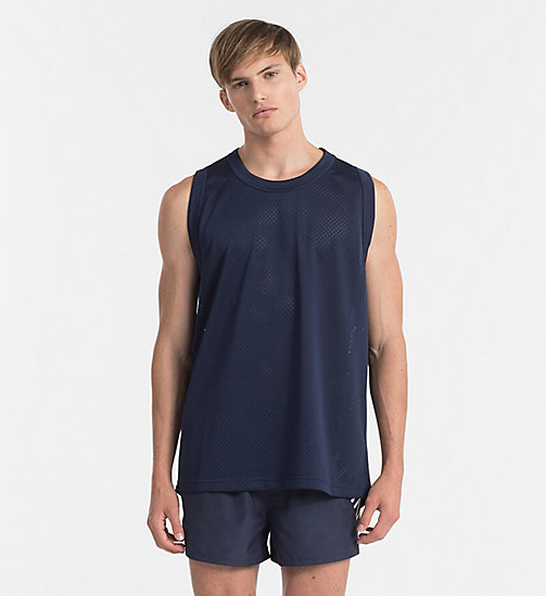 CALVINKLEIN Mesh Tank Top - Intense Power - BLUE SHADOW - CALVIN KLEIN BEACHWEAR - main image
