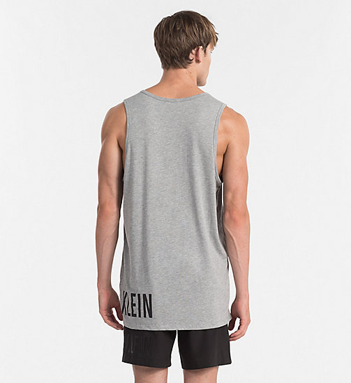 CALVINKLEIN Top a canotta con logo - Intense Power - GREY HEATHER - CALVIN KLEIN BEACHWEAR - dettaglio immagine 1