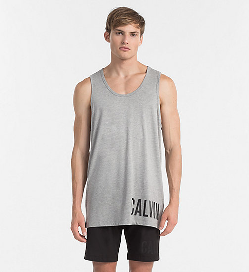 CALVINKLEIN Top a canotta con logo - Intense Power - GREY HEATHER - CALVIN KLEIN BEACHWEAR - immagine principale