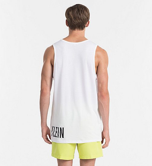 CALVINKLEIN Logo Tank Top - Intense Power - WHITE - CALVIN KLEIN LOGO SHOP - detail image 1