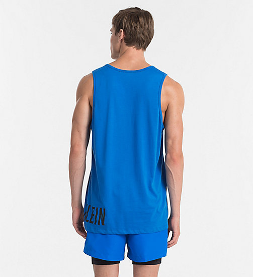 CALVINKLEIN Logo Tank Top - Intense Power - 18-4245-ELECTRIC BLUE LEMONADE - CALVIN KLEIN BEACHWEAR - detail image 1