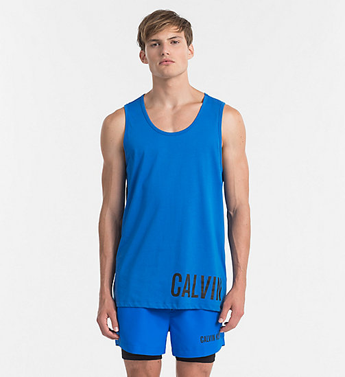 CALVINKLEIN Top a canotta con logo - Intense Power - 18-4245-ELECTRIC BLUE LEMONADE - CALVIN KLEIN BEACHWEAR - immagine principale