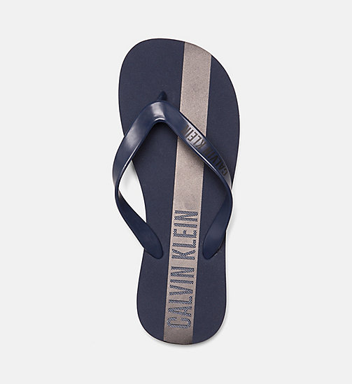 CALVINKLEIN Flip Flops - Intense Power - BLUE SHADOW - CALVIN KLEIN SLIDERS - detail image 1