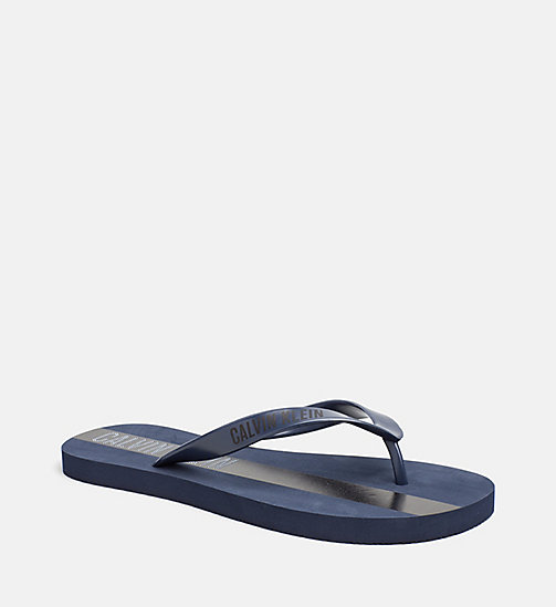 CALVINKLEIN Flip Flops - Intense Power - BLUE SHADOW - CALVIN KLEIN SLIDERS - main image