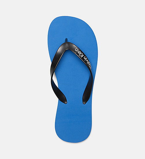 CALVINKLEIN Flip Flops - Core Lifestyle - 18-4245-ELECTRIC BLUE LEMONADE - CALVIN KLEIN SLIDERS - detail image 1