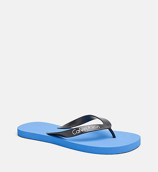 CALVINKLEIN Flip Flops - Core Lifestyle - 18-4245-ELECTRIC BLUE LEMONADE - CALVIN KLEIN SLIDERS - main image