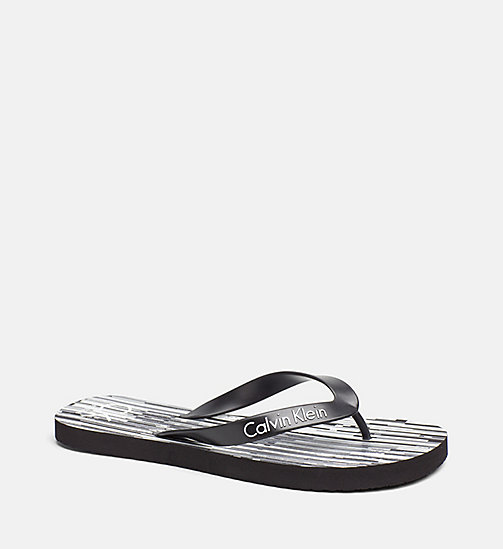 CALVINKLEIN Flip Flops - CK NYC - CITY BLACK - CALVIN KLEIN SLIDERS - main image
