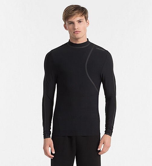 CALVINKLEIN Rash Guard - Cutting Edge - BLACK/WHITE - CALVIN KLEIN BEACHWEAR - main image