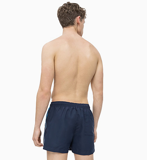 CALVIN KLEIN Swim Shorts - Core Logo Tape - BLUE SHADOW - CALVIN KLEIN SWIM SHORTS - detail image 1