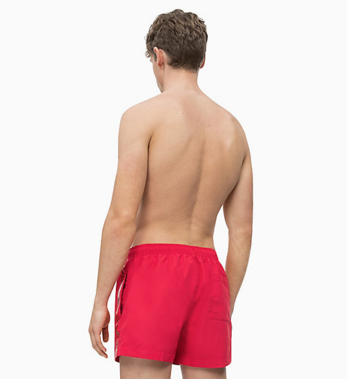 CALVIN KLEIN Swim Shorts - Core Logo Tape - LIPSTICK RED - CALVIN KLEIN SWIM SHORTS - detail image 1