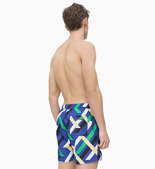 CALVIN KLEIN Swim Shorts - Intense Power - CROSSING STRIPES PRINT BLUE - CALVIN KLEIN SWIM SHORTS - detail image 1